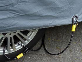 Autohoes Kabelslot 2.5 meter (zware uitvoering)